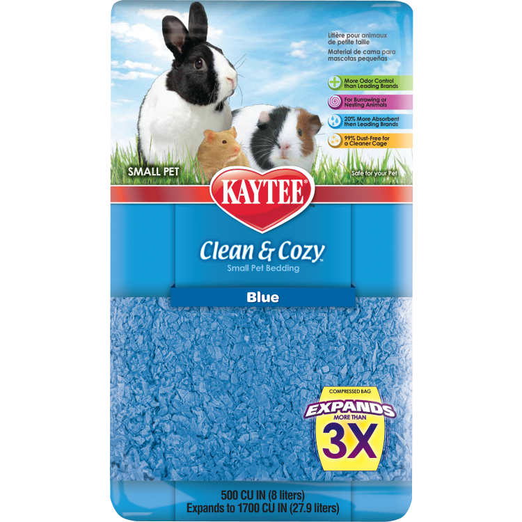 Kaytee - Clean and Cozy Blue Small Pet Bedding 500 cu in