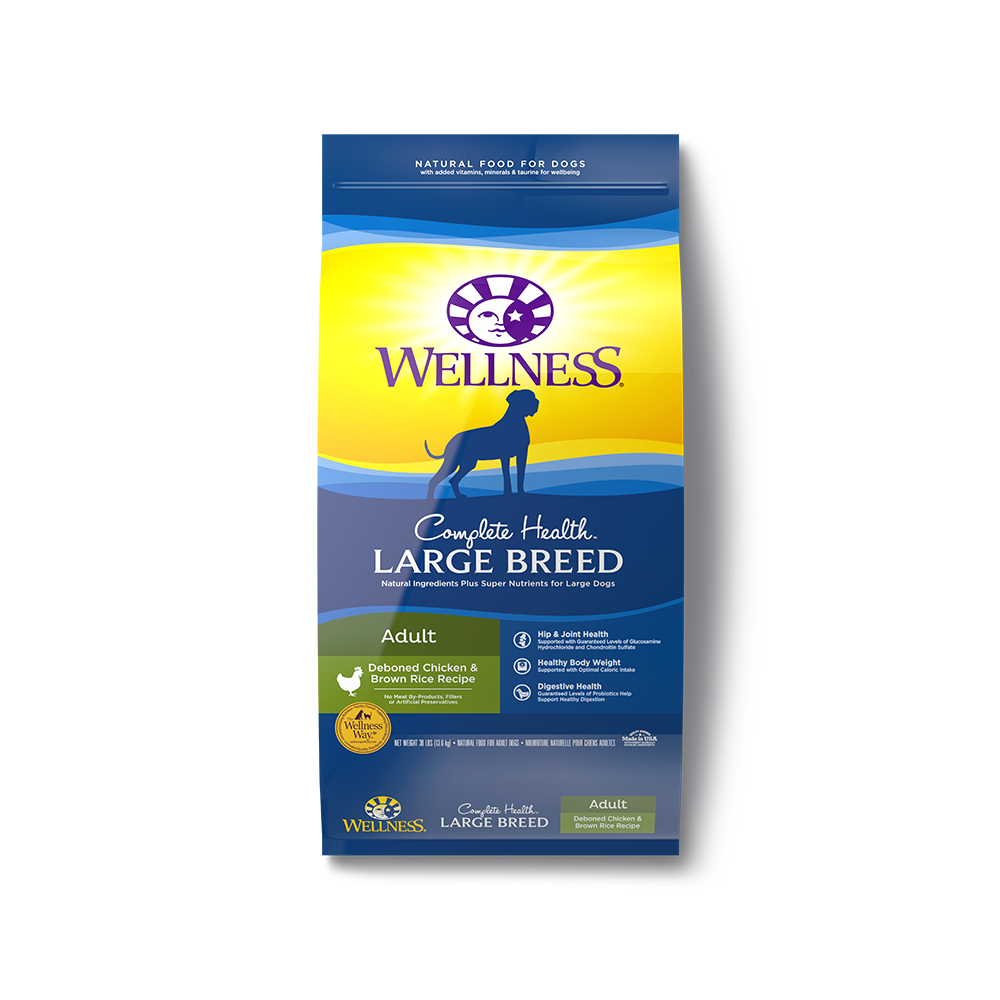 Wellness Complete Health Large Breed Adult Dry Dog Food 30lb