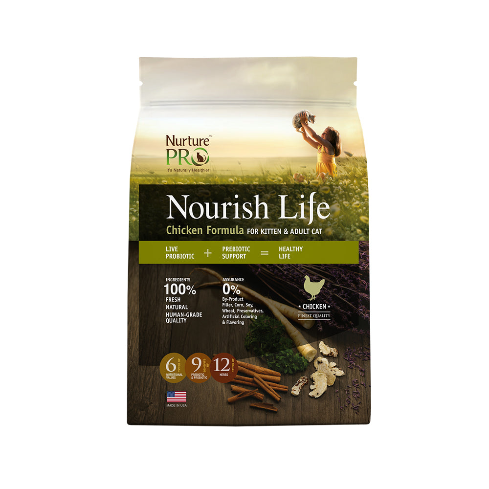 Nurture Pro Nourish Life Chicken Kitten & Adult Dry Cat Food