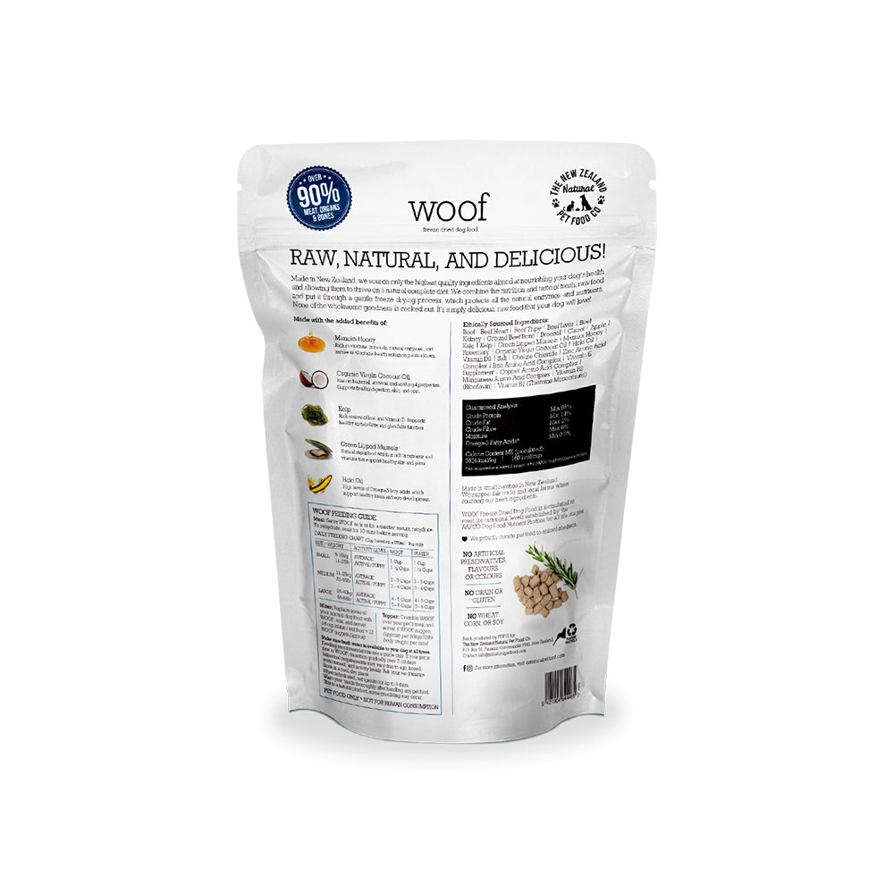 WOOF Beef Freeze Dried Dog Food