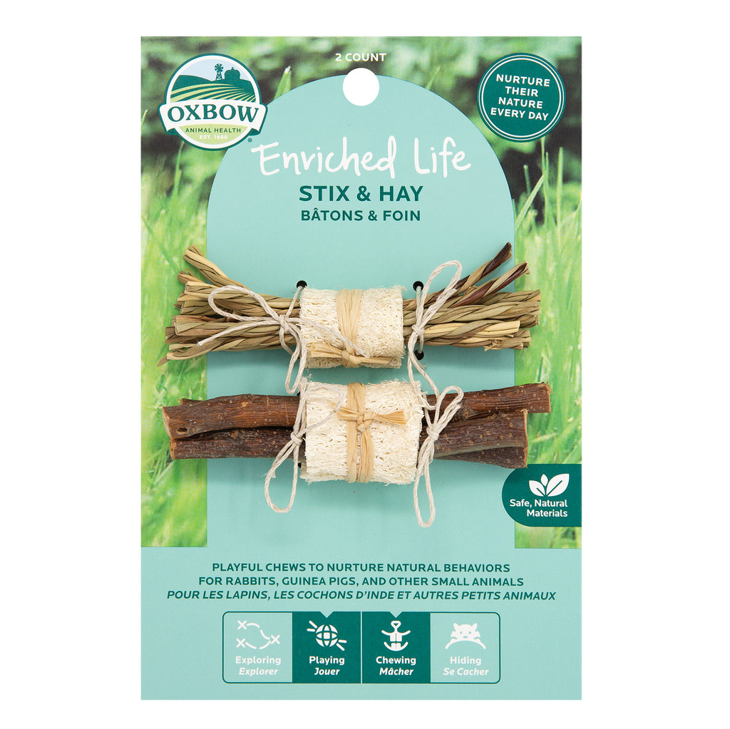 Oxbow Enriched Life Stix & Hay For Small Animals