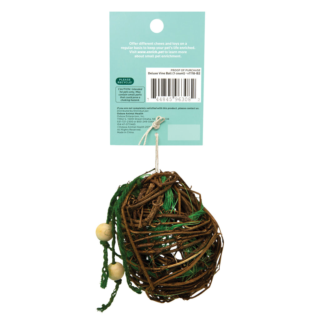 Oxbow Enriched Life Deluxe Vine Ball For Small Animals