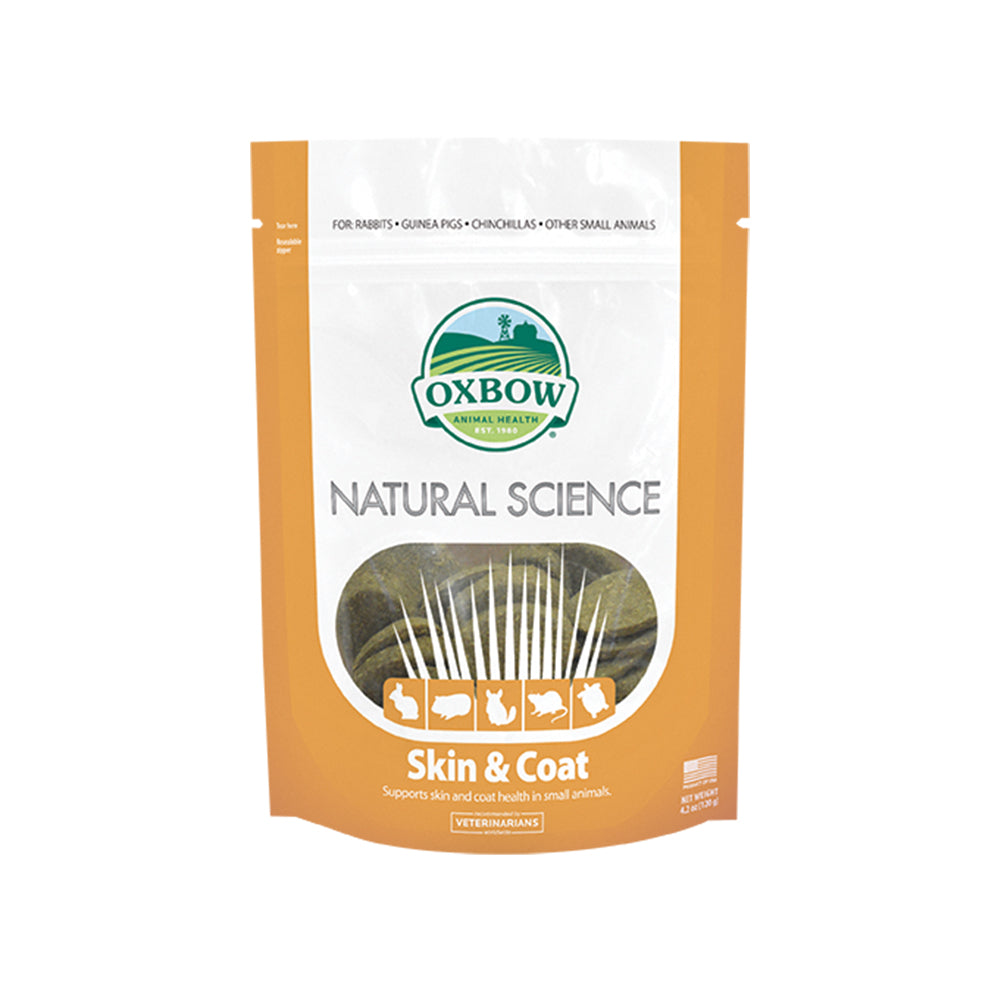 Oxbow Natural Science Skin & Coat Supplement For Small Animals 60 tabs