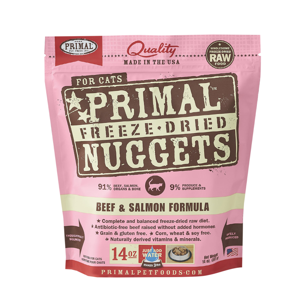 Primal Freeze Dried Feline Beef & Salmon Formula Cat Food 14oz