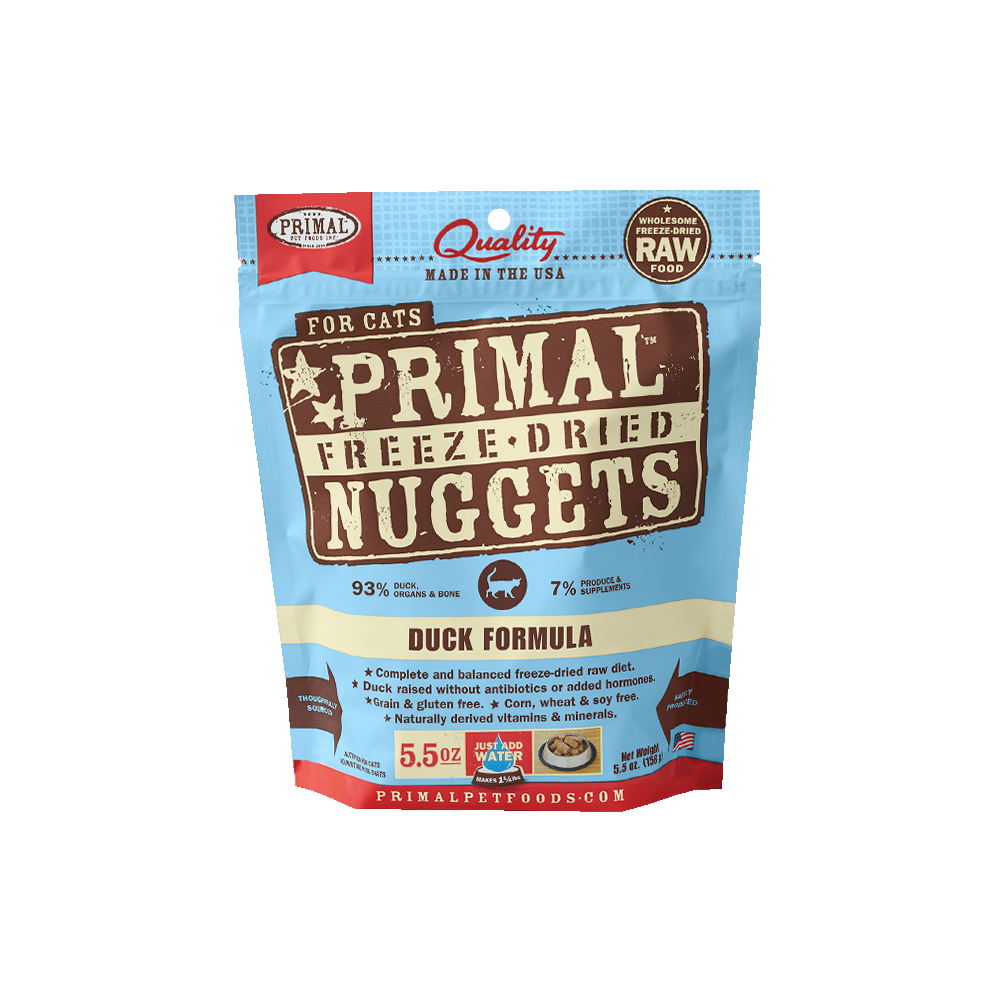 Primal Freeze Dried Duck Formula Cat Food 5.5oz