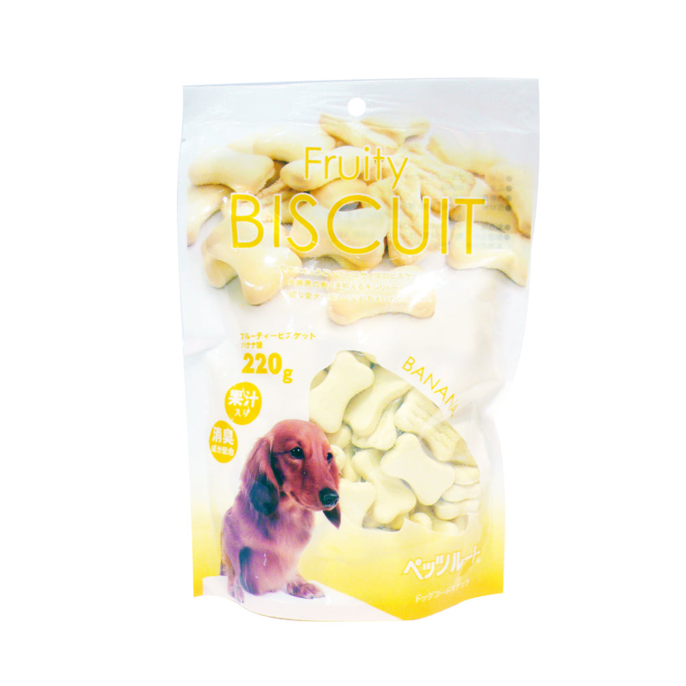 Petz Route Fruity Banana Dog Biscuit 220g