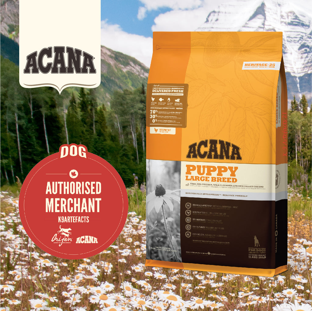 ACANA Heritage Puppy Large Breed Chicken Dog Dry Food 11.4kg