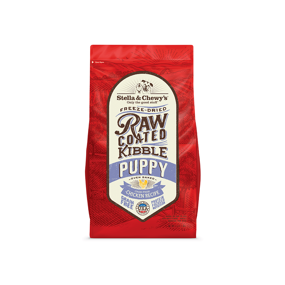 Stella & Chewy's Freeze-Dried Raw Coated Kibble Puppy Chicken Dry Dog Food