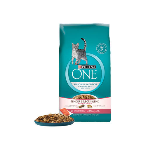 Purina One Tender Selects Blend With Real Salmon