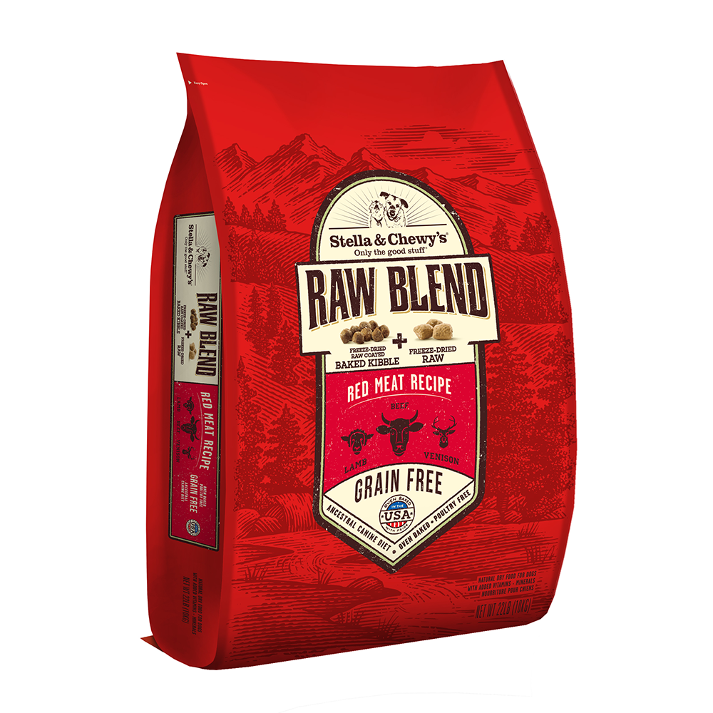 Stella & Chewy's Raw Blend Red Meat Kibble With Freeze-Dried Raw Grain-Free Dry Dog Food