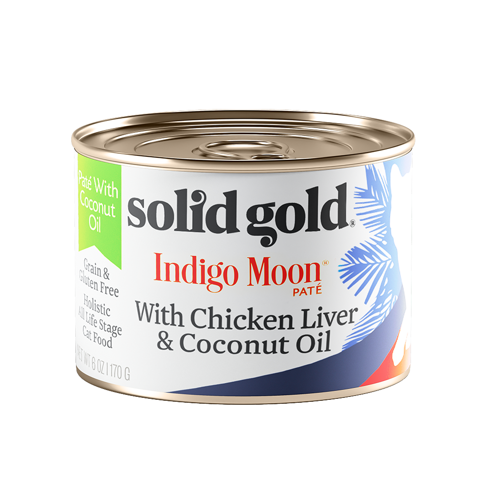 Solid Gold Indigo Moon with Chicken Liver & Coconut Oil Canned Cat Food 6oz