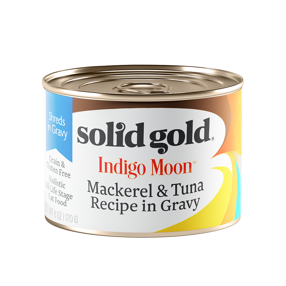 Solid Gold Indigo Moon Mackerel & Tuna Recipe in Gravy Canned Cat Food