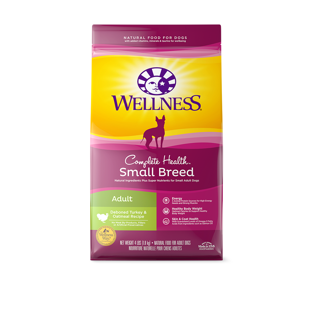 Wellness Complete Health Small Breed Adult Turkey & Oatmeal Dry Dog Food