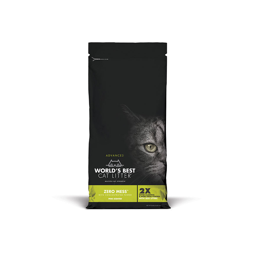 World's Best Cat Litter Zero Mess Pine Scented Clumping Cat Litter