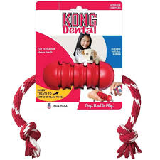 Kong Dental With Rope Dog Toy