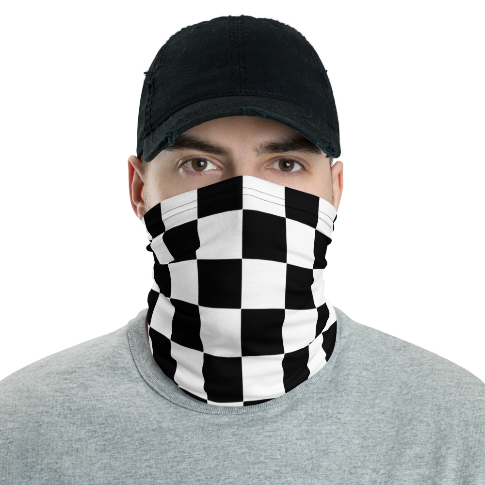 Breathable  Face mask for Skating Chequered