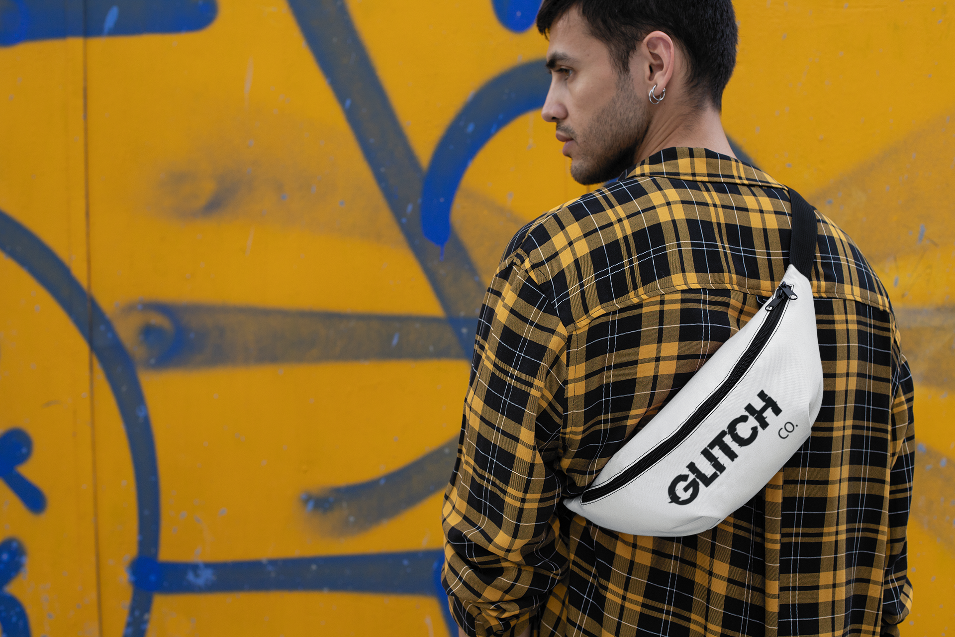 Glitch co. White bum bag
