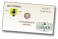 Jake O'Connor's $75 Gift Certificate