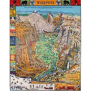 Yosemite Valley by Jo Mora Puzzle