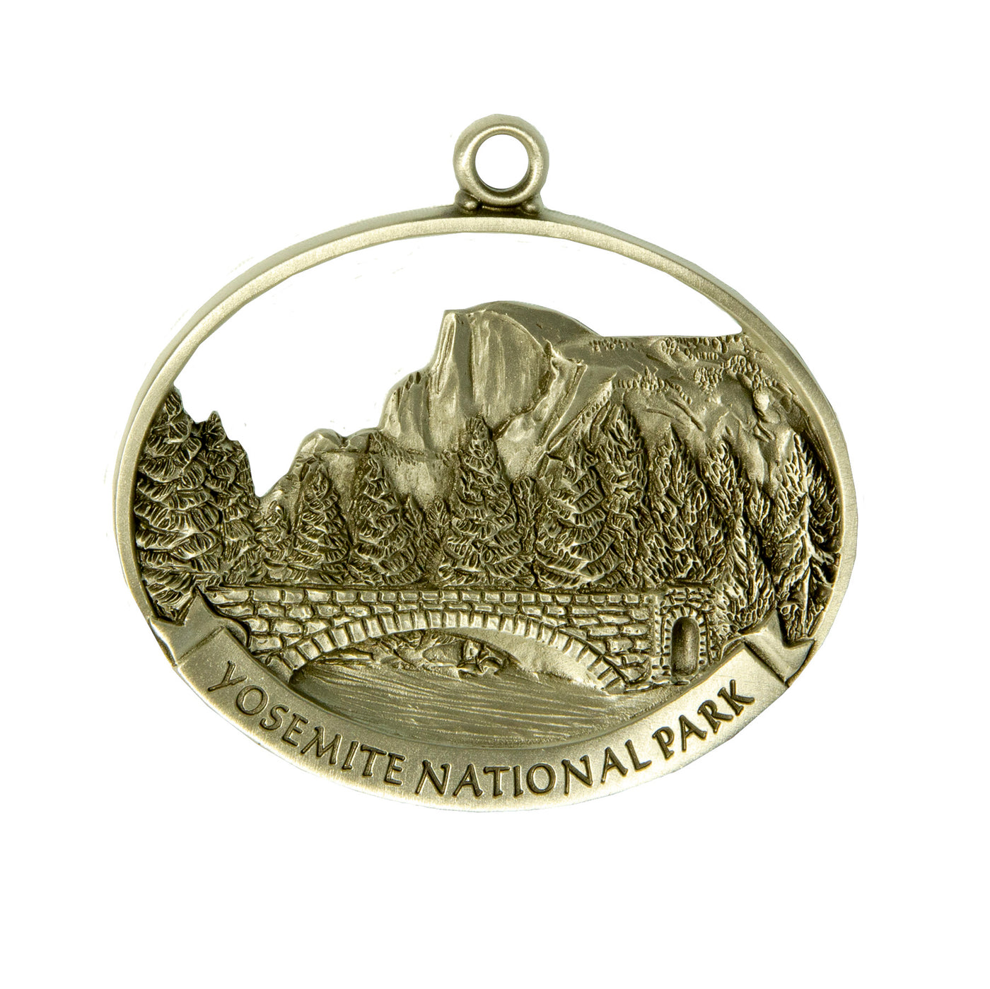 Pewter Stoneman Bridge Ornament