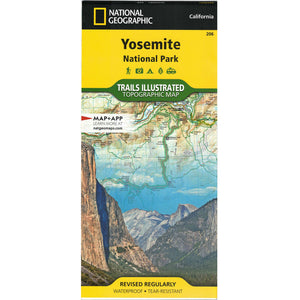 Yosemite National Park Trails Illustrated Topographical Map