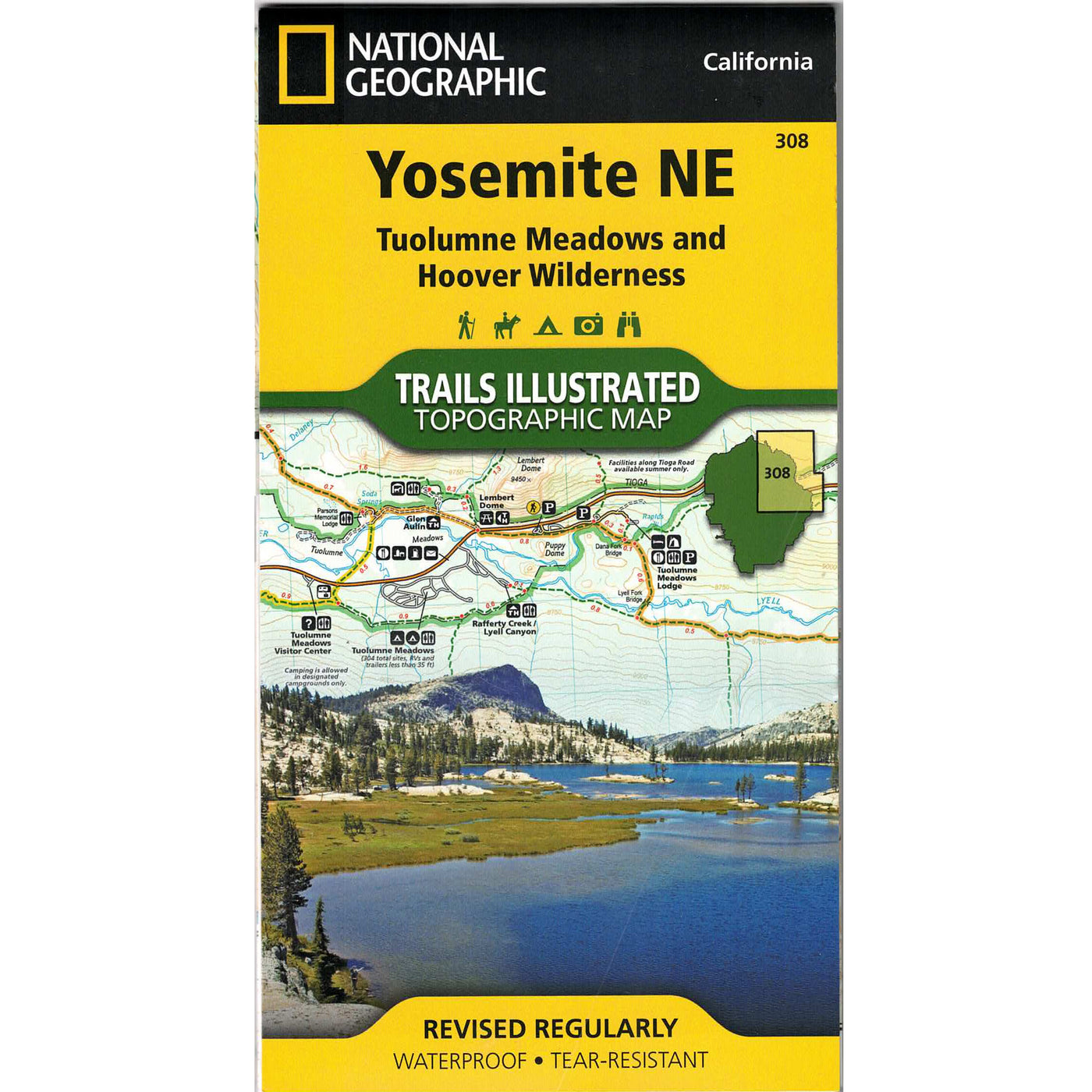 Yosemite NE Trails Illustrated: Tuolumne Meadows & Hoover Wilderness Topo Map