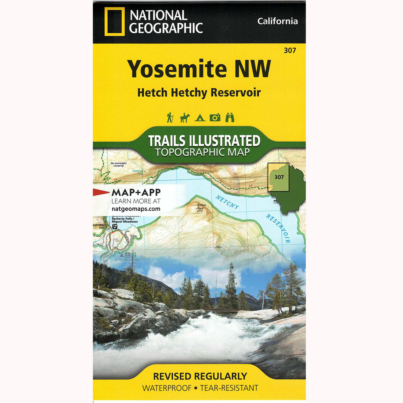 Yosemite NW Trails Illustrated: Hetch Hetchy Reservoir Topographical Map