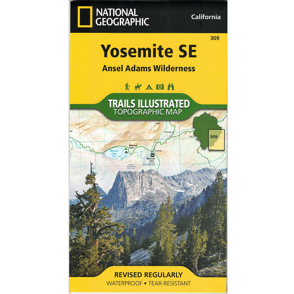 Yosemite SE Trails Illustrated: Ansel Adams Wilderness Topographical Map