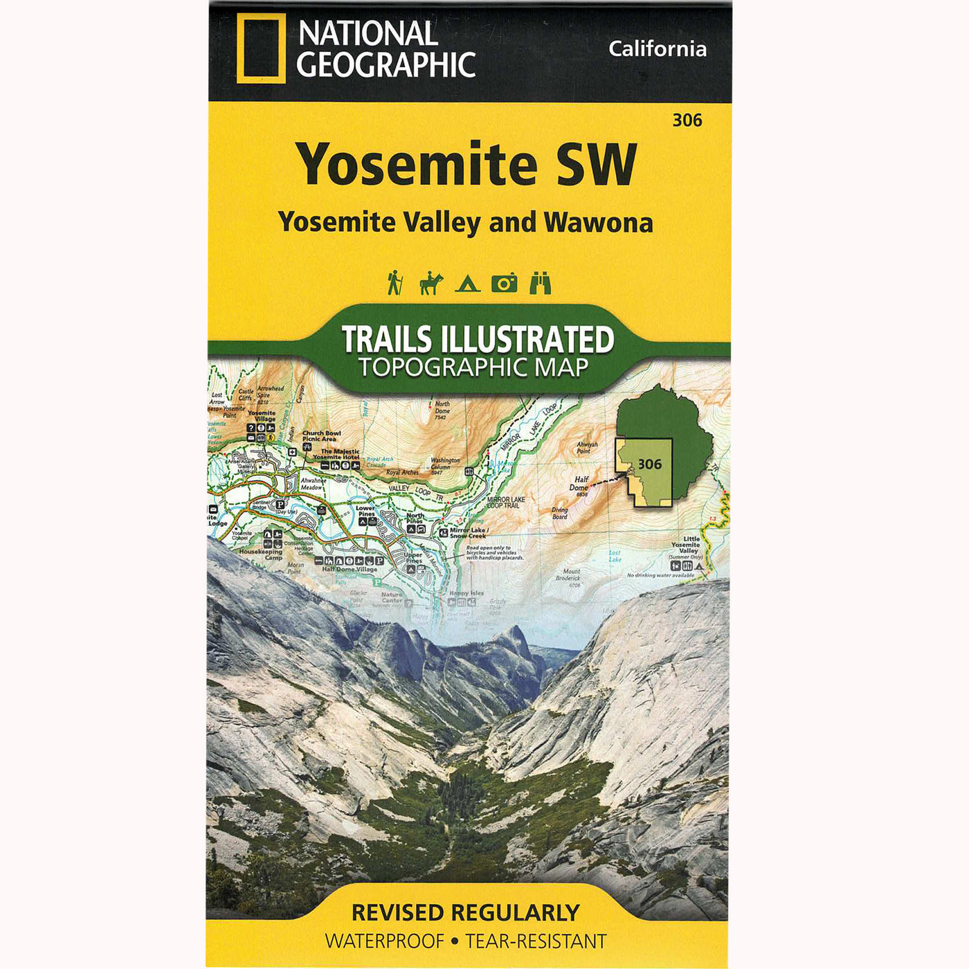 Yosemite SW Trails Illustrated: Yosemite Valley and Wawona - Topographical Map
