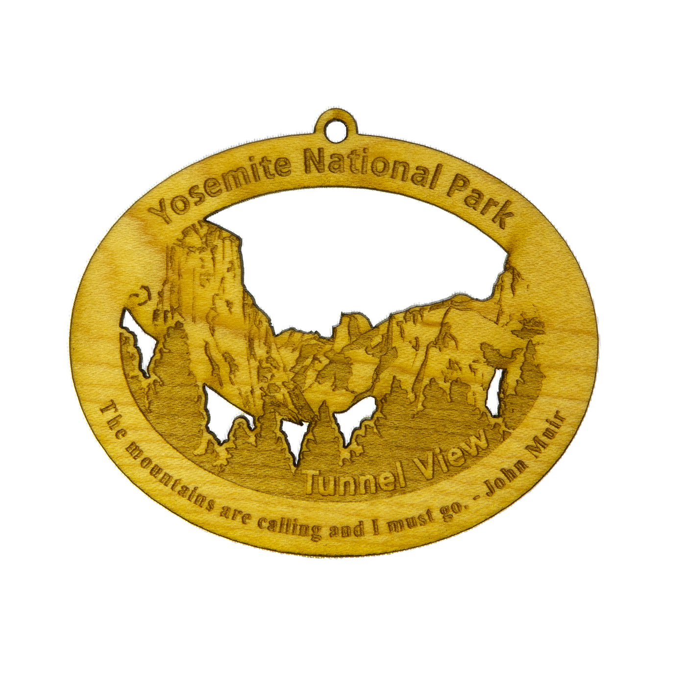 Wooden Tunnel View Ornament