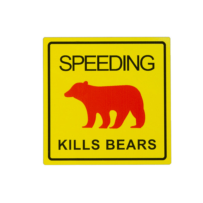 Speeding Kills Bears Magnet