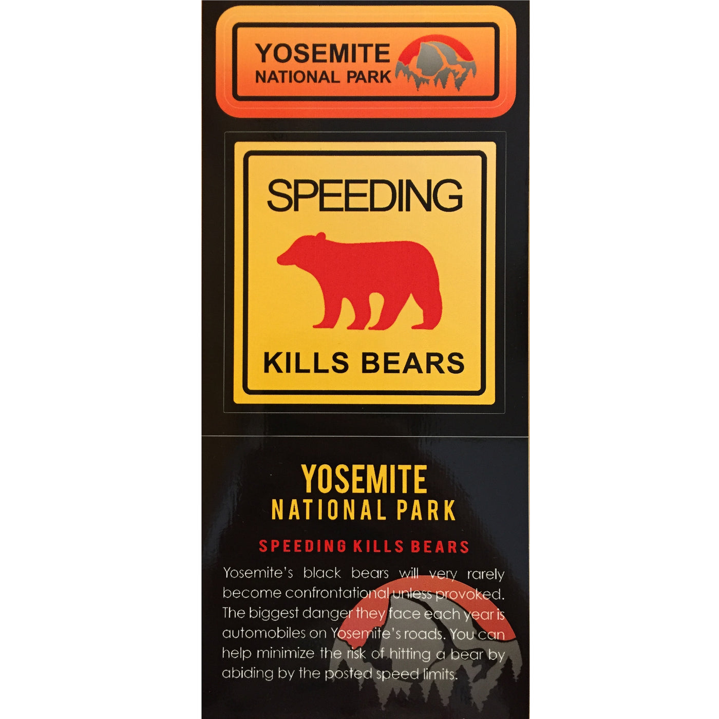 Speeding Kills Bears Decal