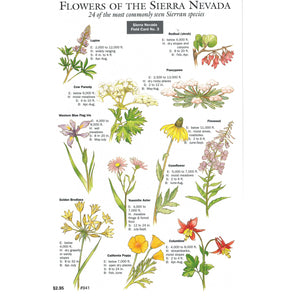 Flowers Sierra Nevada Field Card