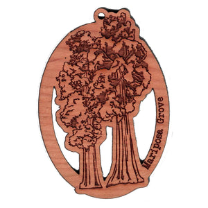 Wooden Mariposa Grove Ornament