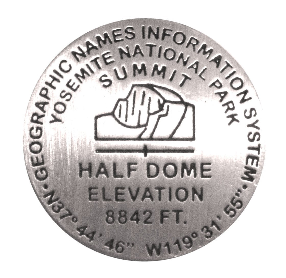 Half Dome Benchmark Pin