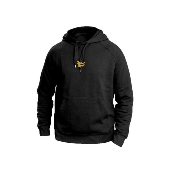"""Money Can't Buy"" Gold Dragon Head Hoodie"