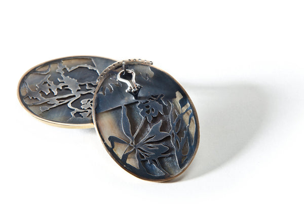 Huge Oval Sapphire Slices with Herbarium Carvings