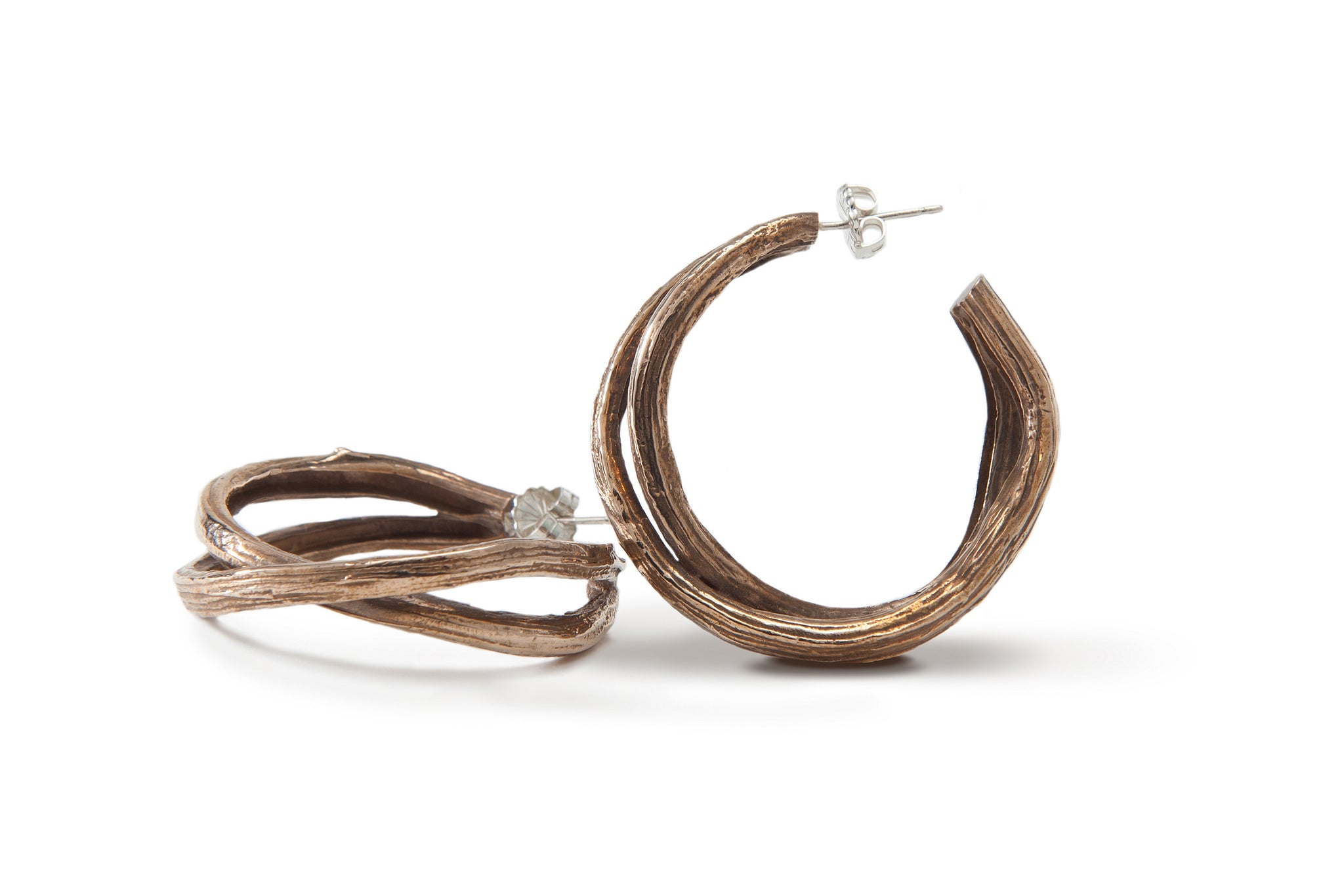 Large Double Branch Hoop Earrings