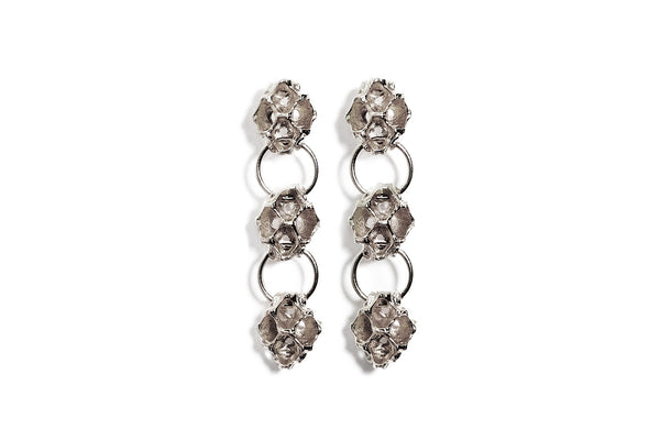 Pinecone Triple Dangle Earring