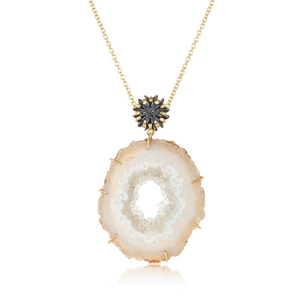 Geode and Casuarina Pendant