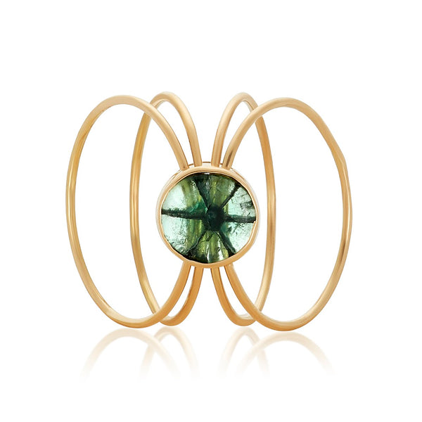 Traphice Kinetic Fairmined Ring