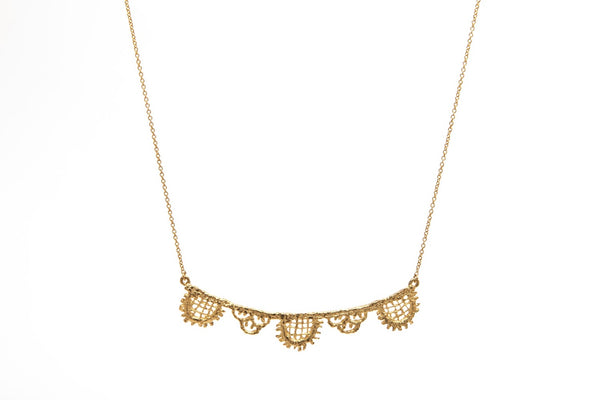 Gold Lace Linear Pendant