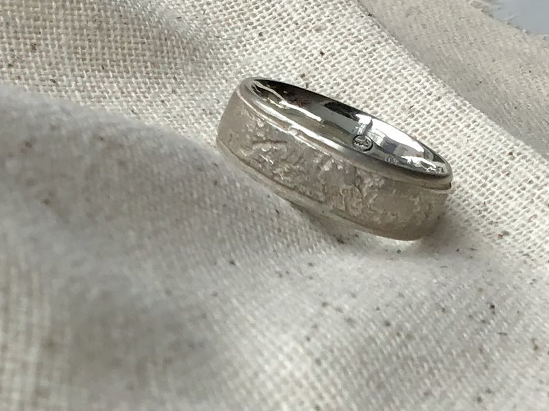 Banded Silk Ring in Sterling Silver