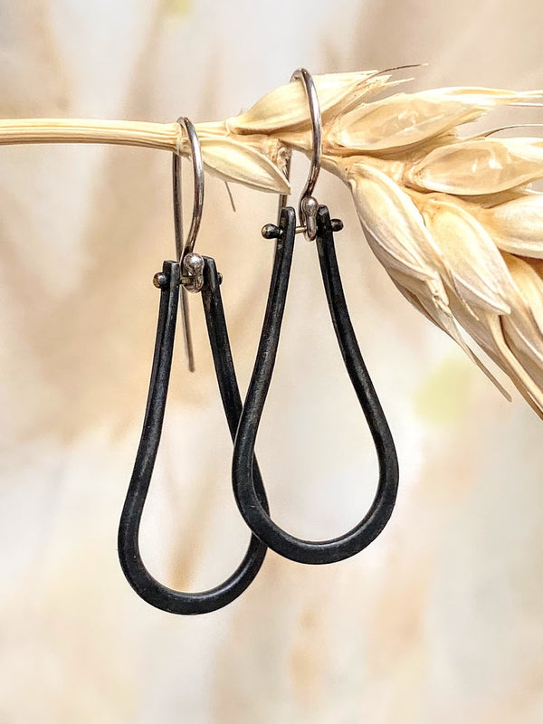 Steel Hinge Simple Drop Earrings