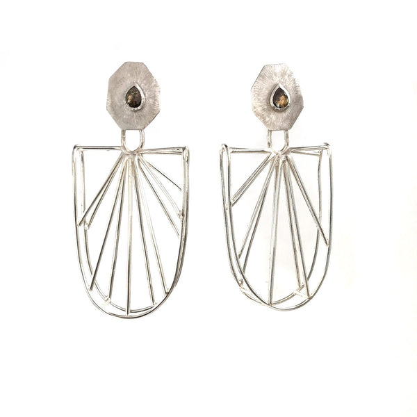Radiating Rosecut Diamond Earrings