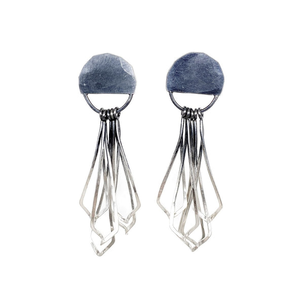 Twist Half-moon Post Earring
