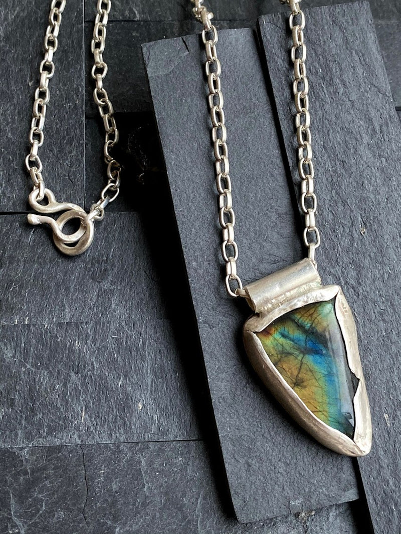 Triangle Spectrolite Necklace