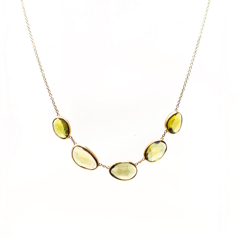 Spring Sapphire Quint Necklace