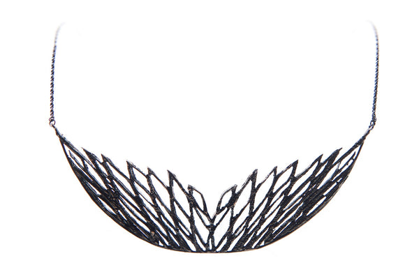 Palm Double Wing Bib Necklace