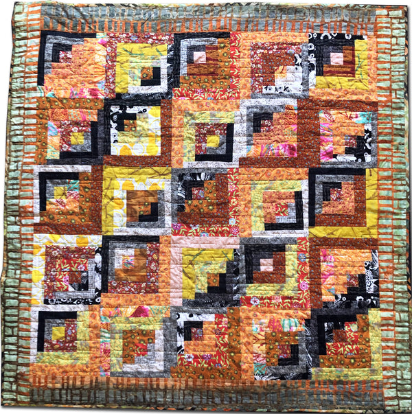Fields & Furrows Throw Quilt